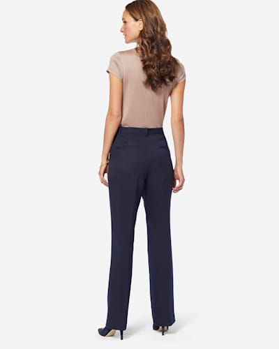 ADDITIONAL VIEW OF SEASONLESS WOOL STRAIGHT LEG PANTS IN MIDNIGHT NAVY