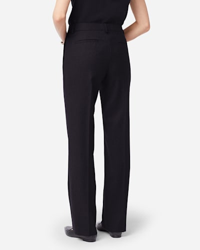 SHELBY AIRLOOM WOOL FLANNEL PANTS IN BLACK