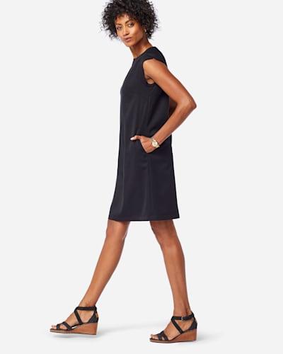 SEASONLESS WOOL CHARLI SHIFT DRESS IN BLACK