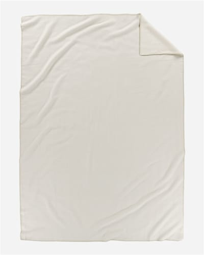ECO-WISE WOOL SOLID BLANKET IN WHITE