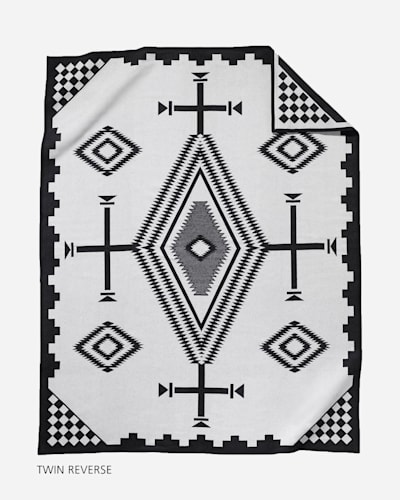 LOS OJOS BLANKET TWIN SIZE FRONT VIEW