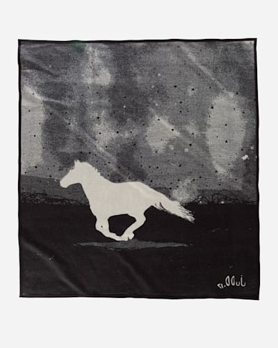 A HORSE CALLED PAINT BLANKET IN WHITE/GREY