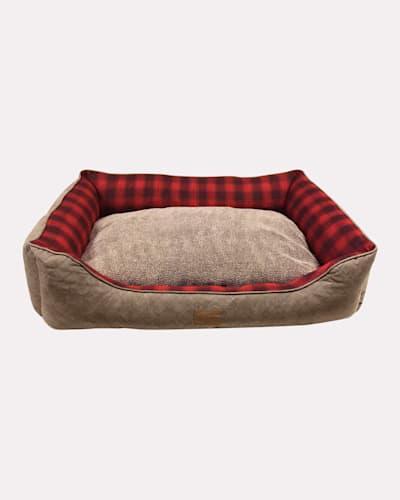 RED OMBRE KUDDLER DOG BED IN SIZE MEDIUM