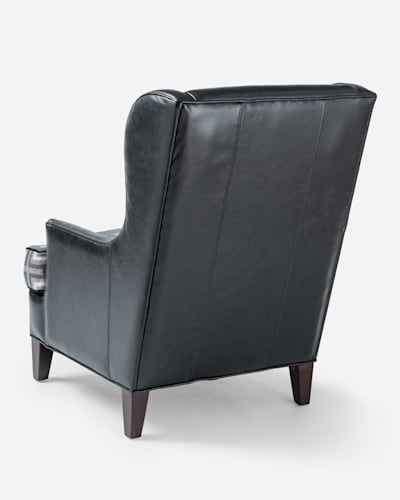 LEATHER LOGAN CHAIR IN BLACK/SAN MIGUEL