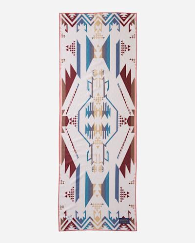 PENDLETON YOGA TOWEL IN WHITE SANDS